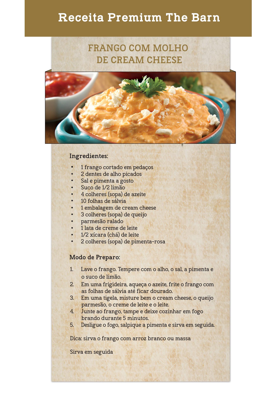 Frango com Molho Cream Cheese